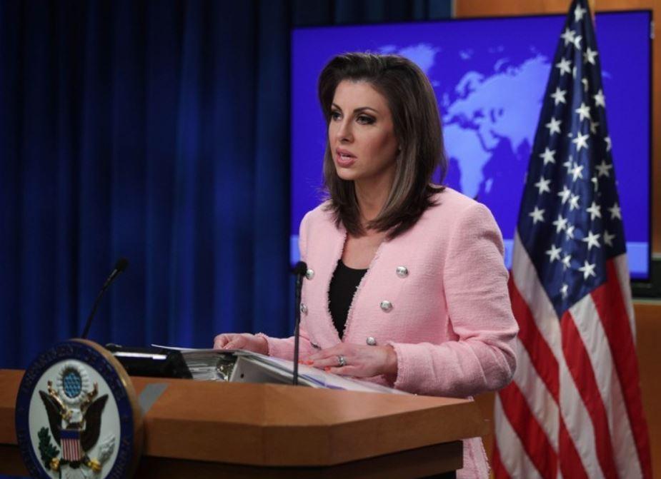 US State Department spokeswoman Morgan Ortagus (AFP-Yonhap)