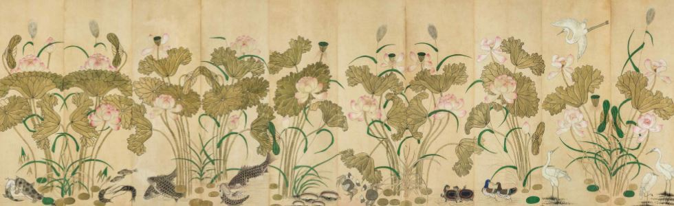 A Lotuses painting (Cultural Heritage Administration)