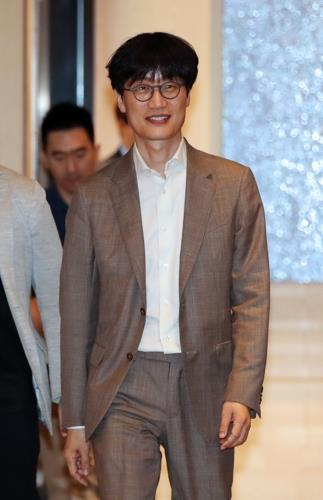 Naver Corp. founder Lee Hae-jin shows up for a forum at a Seoul hotel on June 18, 2019. (Yonhap)