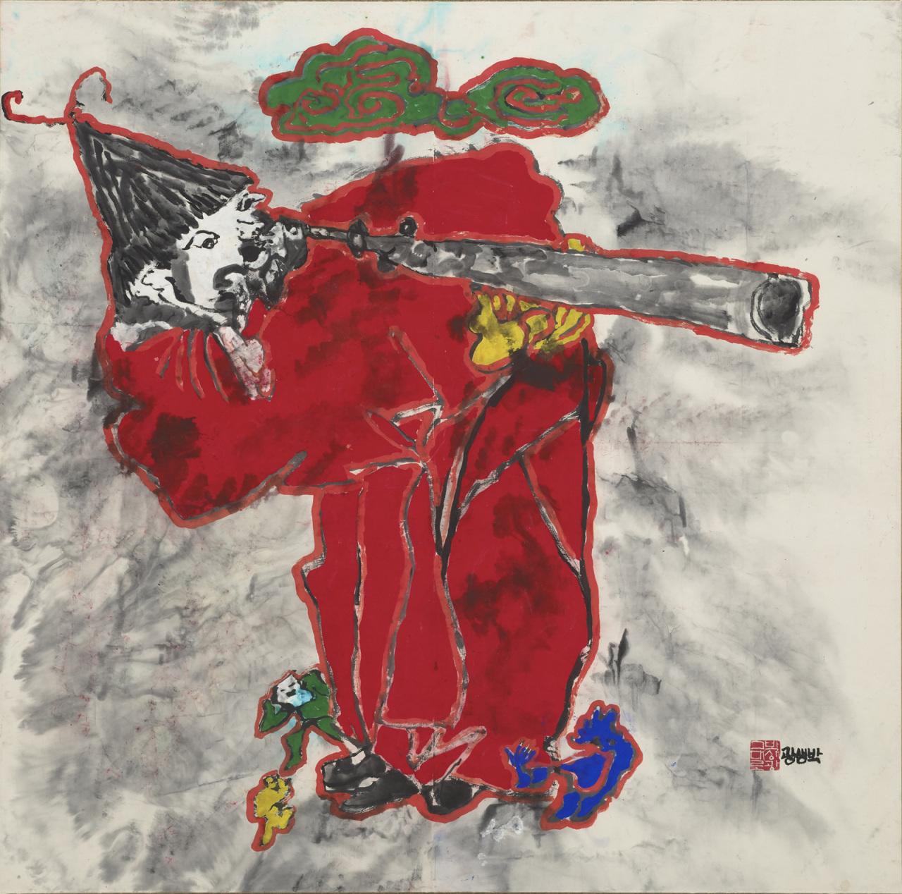 """""""Nojeokdo"""" (1985) by artist Park Saeng-kwang (Daegu Art Museum)"""