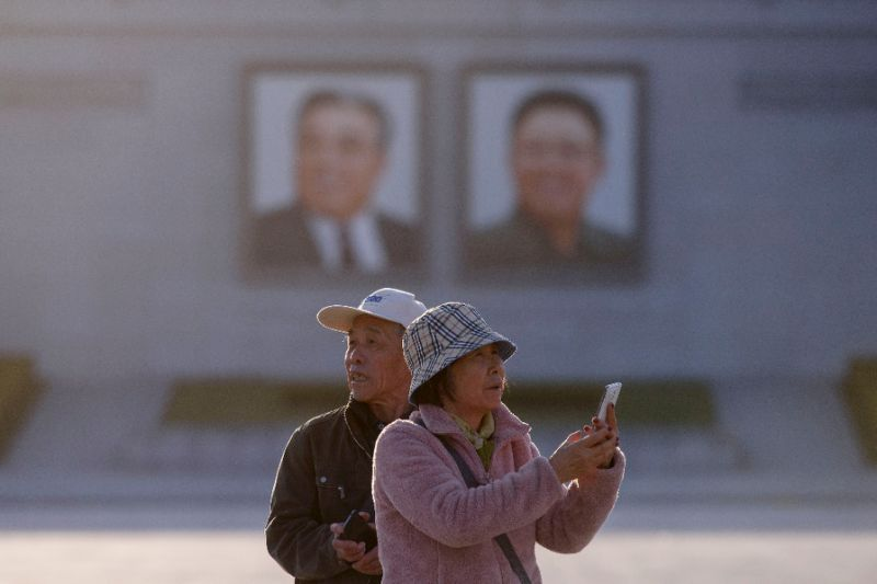 Kim Il Sung square in Pyongyang is one of the highlights of tours of the North Korean capital (AFP-Yonhap)