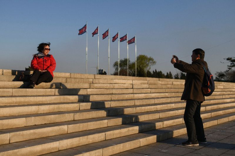 Ordinary Chinese pay travel companies around $360 for a standard three-day trip to North Korea (AFP-Yonhap)