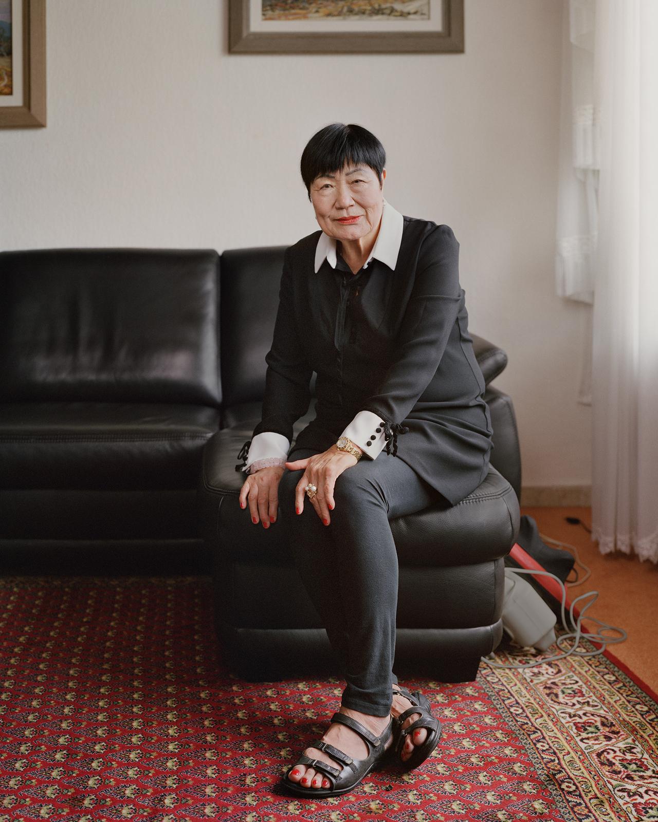 "Kim Ok-sun's 2018 work ""BNP_8630BK"" (Atelier Hermes)"
