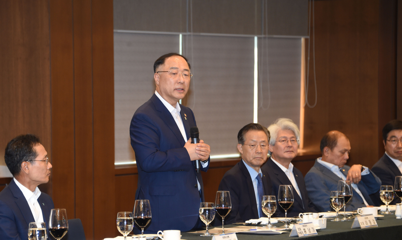 Hong Nam-ki, the minister of economy and finance (Yonhap)