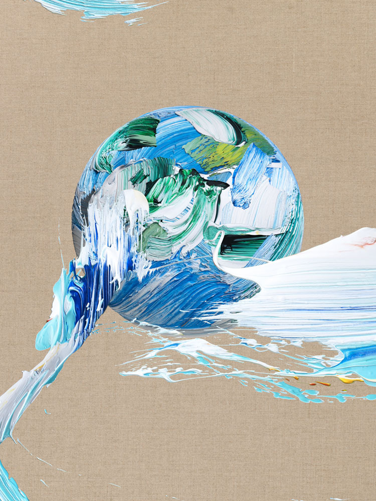 """Matthew Stone's 2019 painting """"Blue Sphere"""" (Choi & Lager)"""