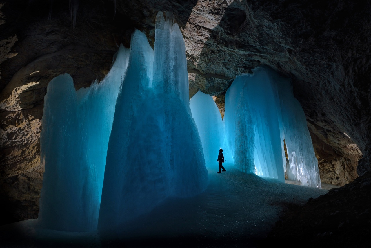 Austria-based British photographer Robbie Shone's photo of a large underground ice formation within Eiskugel Eishöhle, a cave near Werfenweng, Austria (Robbie Shone)