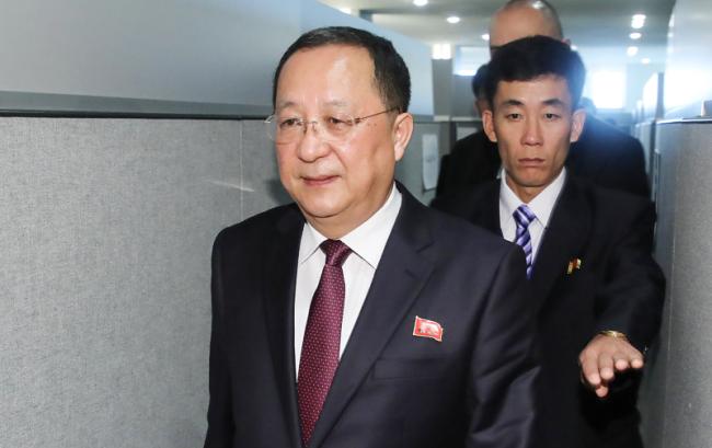 North Korean foreign minister Ri Yong-ho (Yonhap)