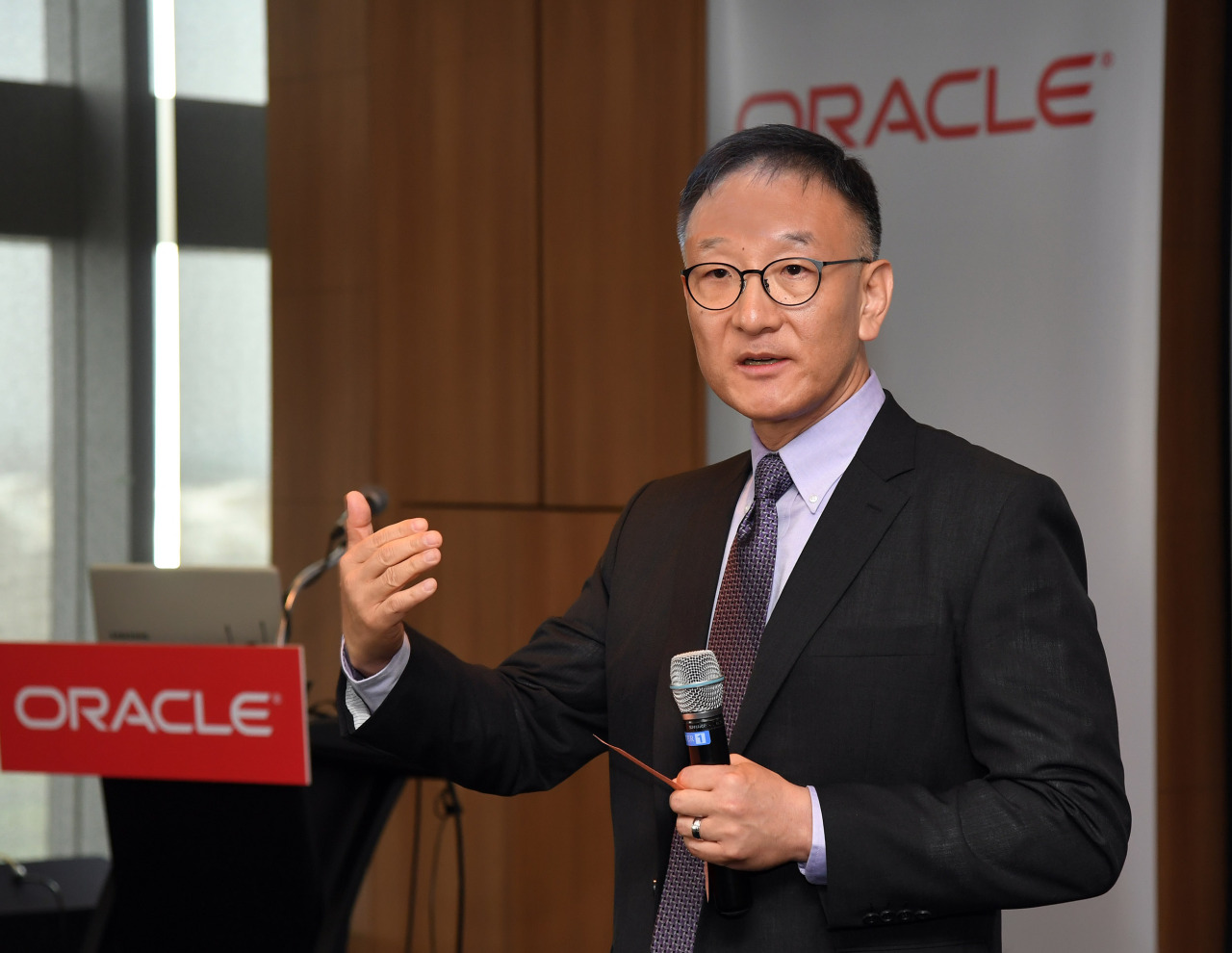 Oracle Korea's chief Tom Song. Oracle Korea