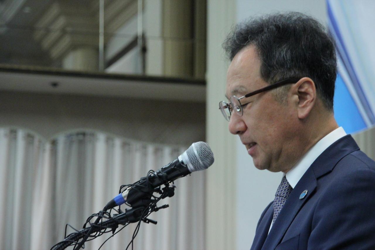 Kolon Life Science CEO Lee Woo-suk (Lim Jeong-yeo/The Korea Herald)