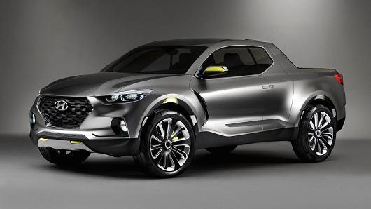 Hyundai Motor's Santa Cruz crossover truck concept vehicle unveiled at the 2015 Detroit motor show. (Hyundai Motor)