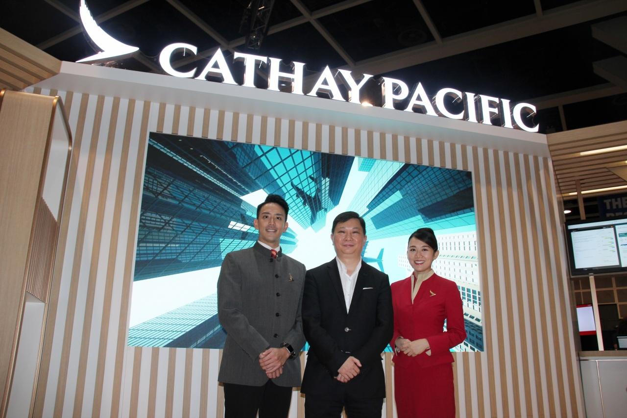 Paul Loo (center), Cathay Pacific Airway's chief commercial officer (Lim Jeong-yeo/The Korea Herald)