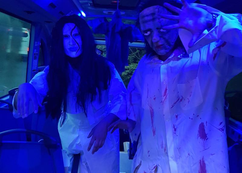 Ghosts and zombies will make guest appearances during the Seoul City Bus Tour's nighttime operations. (Seoul City Bus Tour)