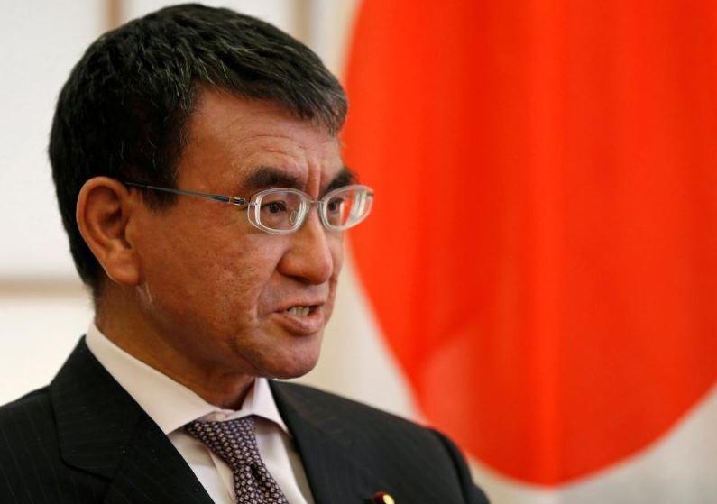Japanese Foreign Minister Taro Kono (Reuters)