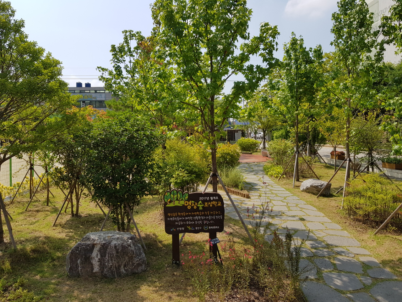 Wolgye Elementary School in Gwangju has participated in the School Forest Project and is selected as an exemplary school for its fine maintenance of the site. (KFS)