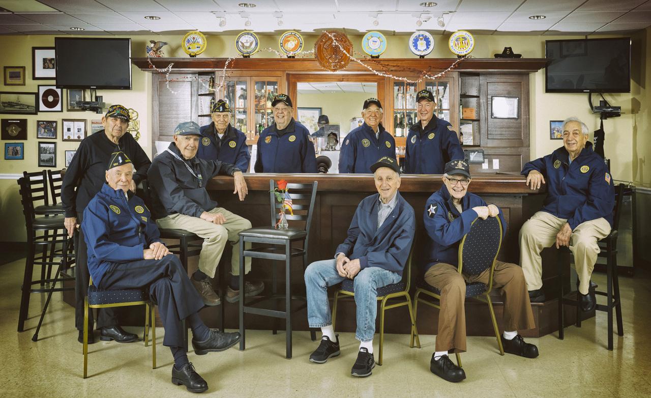 Korean War veterans pose in the US on April 14. (Rami Hyun)