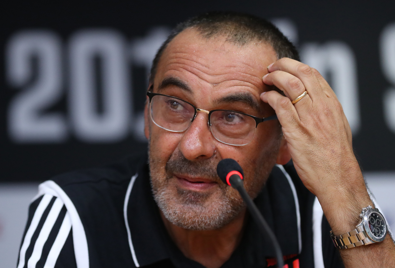 Juventus' manager Maurizio Sarri (Yonhap)
