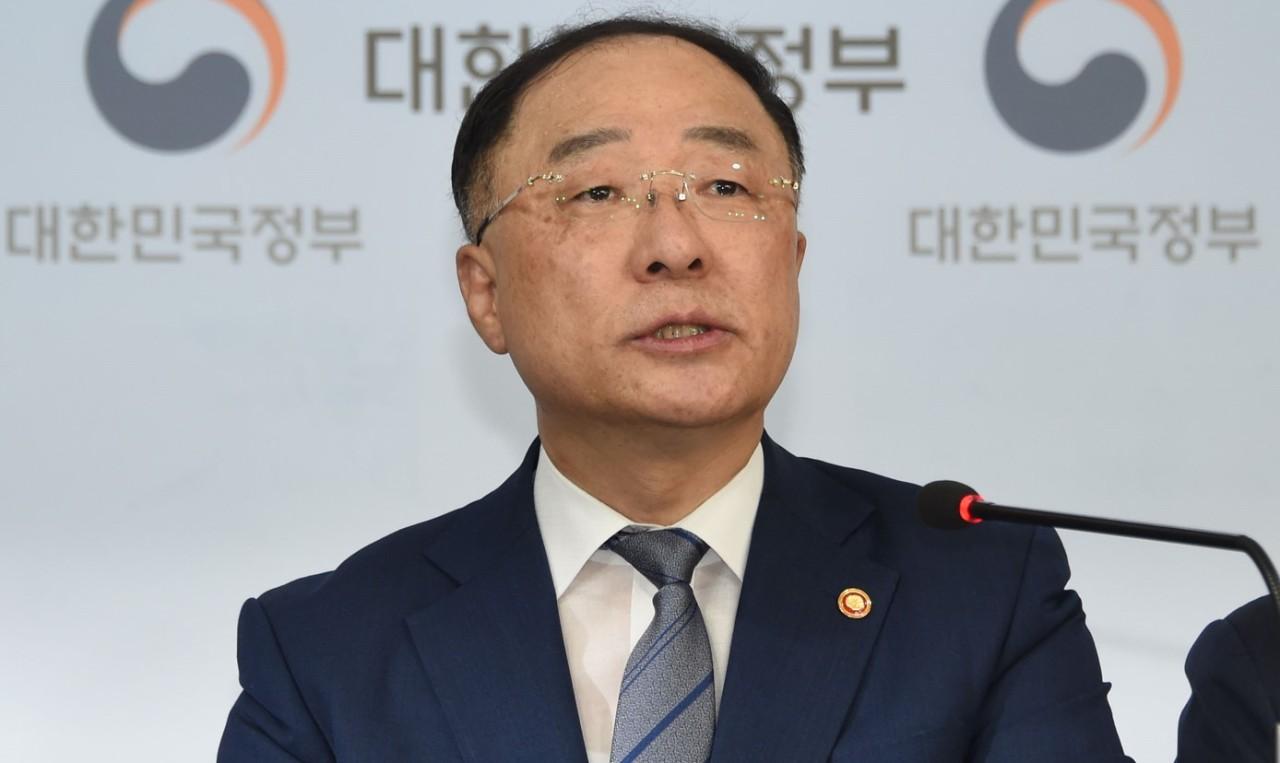 Finance Minister Hong Nam-ki (MOEF)