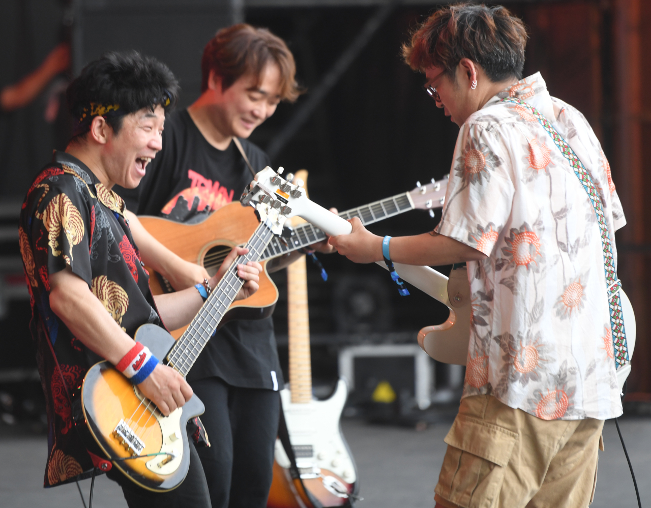 Crying Nut performs at Incheon Pentaport Rock Festival 2019 on Sunday. (PRM)