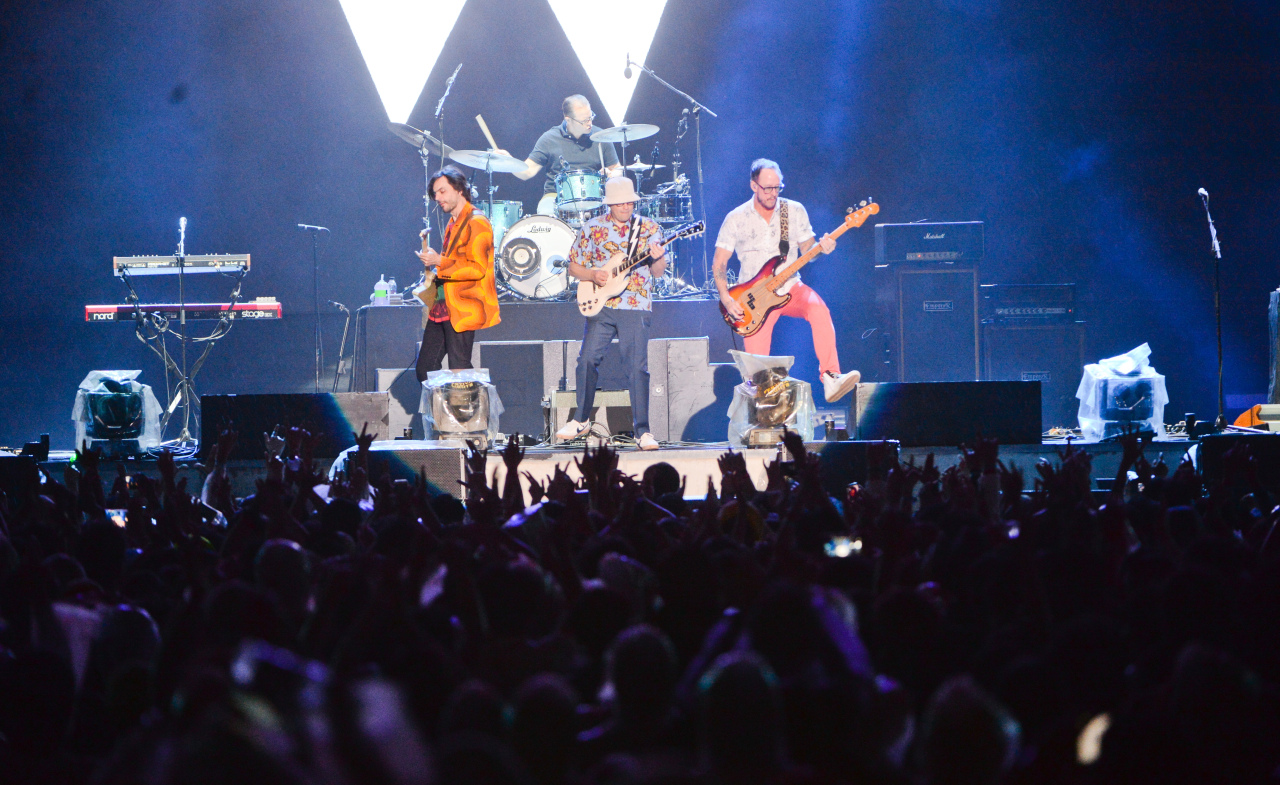 Weezer performs at Incheon Pentaport Rock Festival 2019 on Sunday. (PRM)