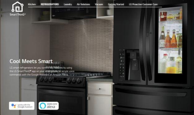 (LG Electronics homepage)