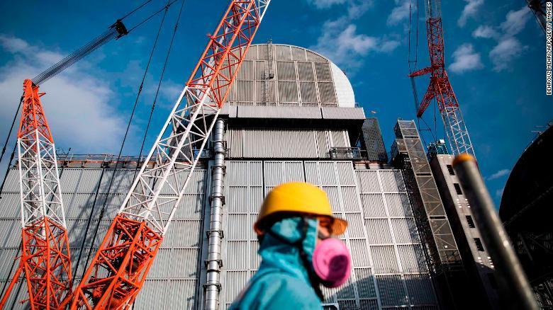 The Fukushima Daiichi nuclear power plant in Okuma town, Fukushima prefecture, Japan. (AP)