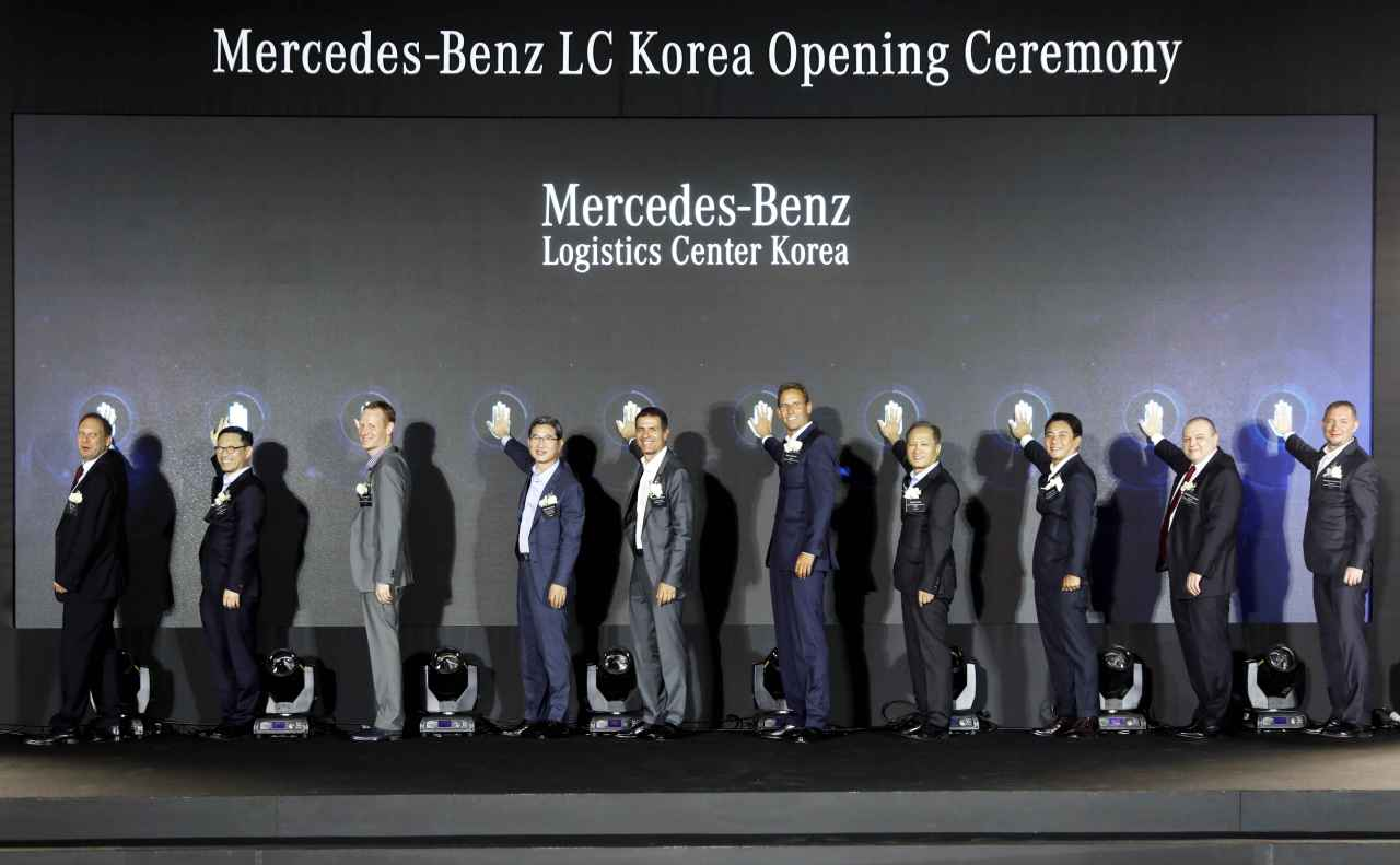 Participants attend a ceremony marking the new logistics center for Mercedes-Benz Korea. (Mercedes-Benz Korea)
