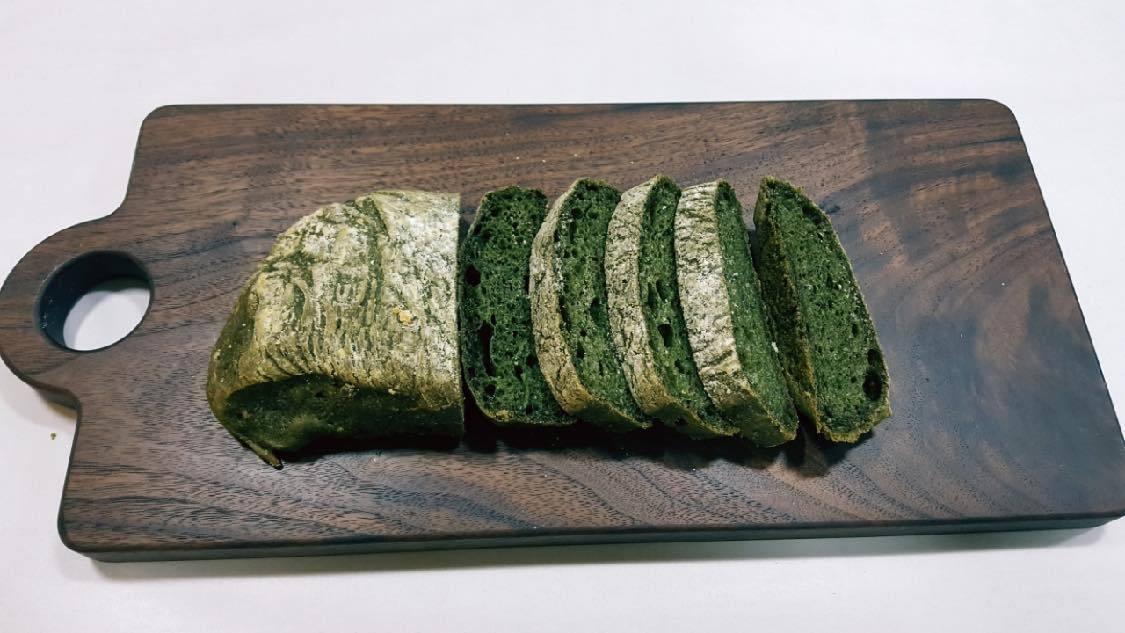 Mugwort chia butter bread