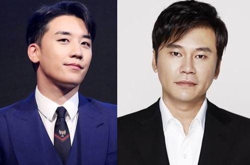 Seungri (left) and Yang Hyun-suk (Yonhap)