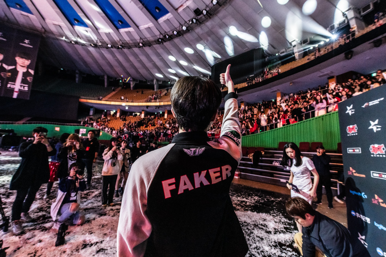 "SKT T1's League of Legends star player ""Faker"" Lee Sang-hyeok (Riot Games)"