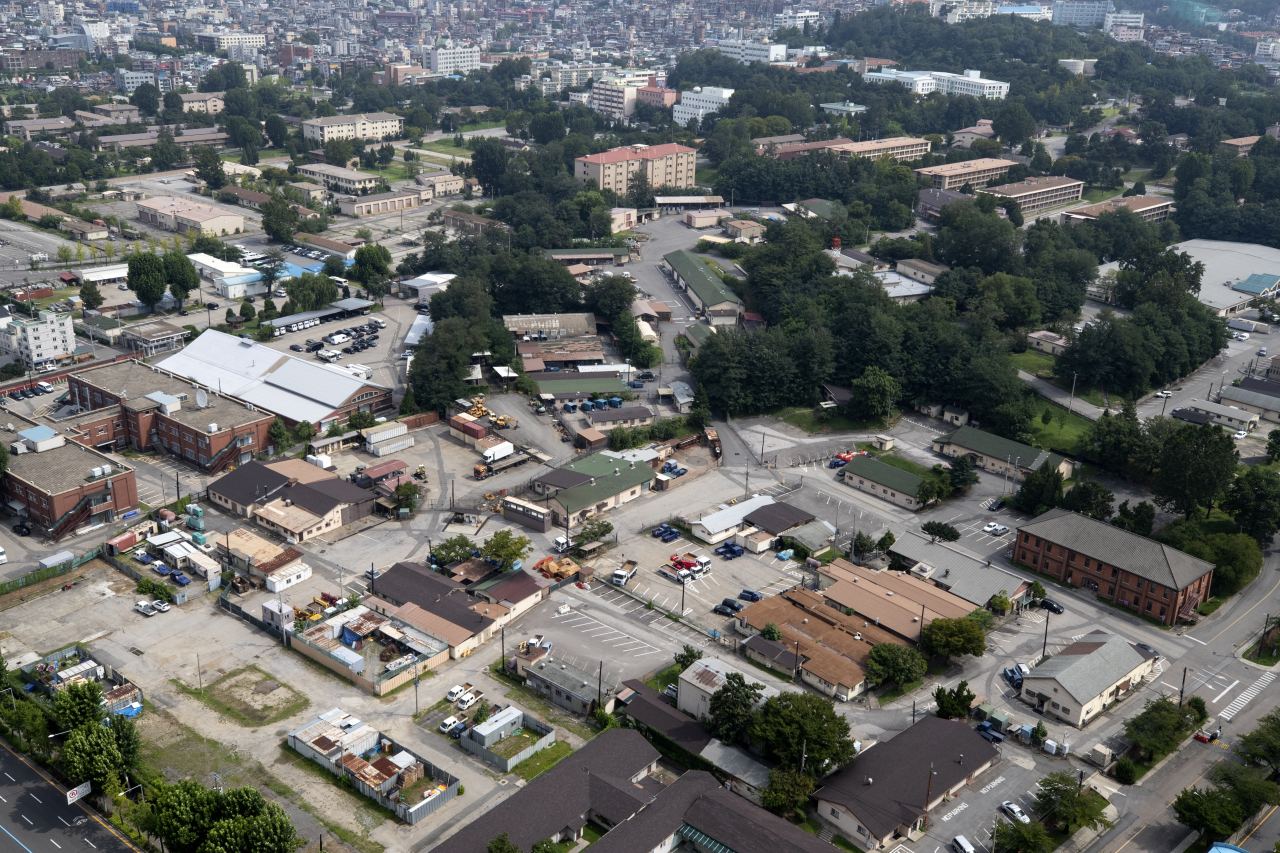 A panoramic view of the US military base in Yongsan, central Seoul (Yonhap)