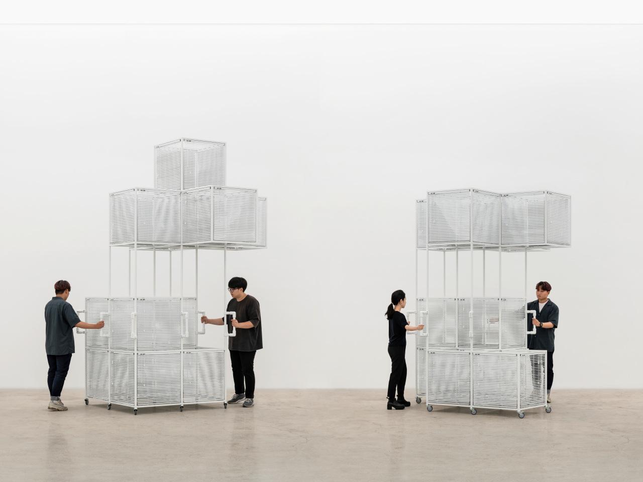 """Yang Hae-gue's """"Sol LeWitt Vehicles"""" (Kukje Gallery)"""