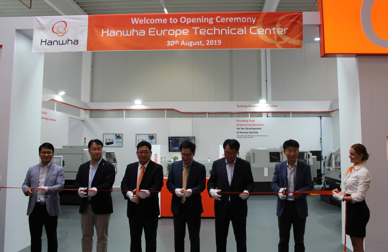 The launch ceremony for Hanwha Europe Technical Center takes place Friday in Germany. (Hanwha Aerospace)
