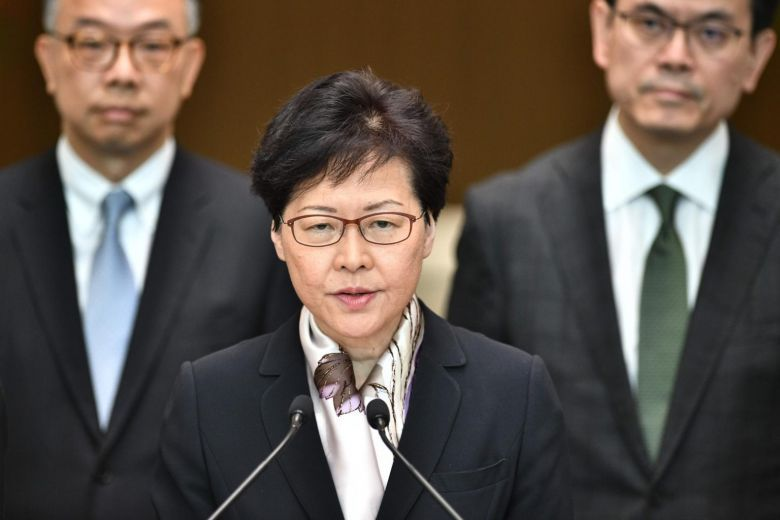 Hong Kong Chief Executive Carrie Lam (AFP)