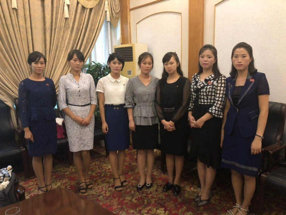 Seven North Korean women, who were former colleagues of the alleged defectors at the restaurant in Ningbo, China, spoke with the fact-finding committee on Monday at a hotel in Pyongyang. (IADL, Minbyun)