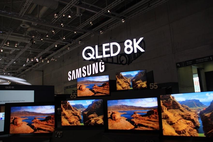 Samsung QLED 8K TVs at IFA 2019 (Lim Jeong-yeo/The Korea Herald)