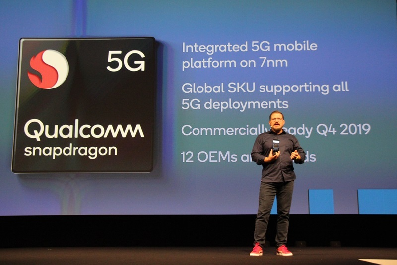 Qualcomm Chairman Cristian Amon introduces Snapdragon 7 series platform with integrated 5G (Lim Jeong-yeo/The Korea Herald)