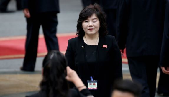 North Korea's vice foreign minister Choe Son-hui (Yonhap)