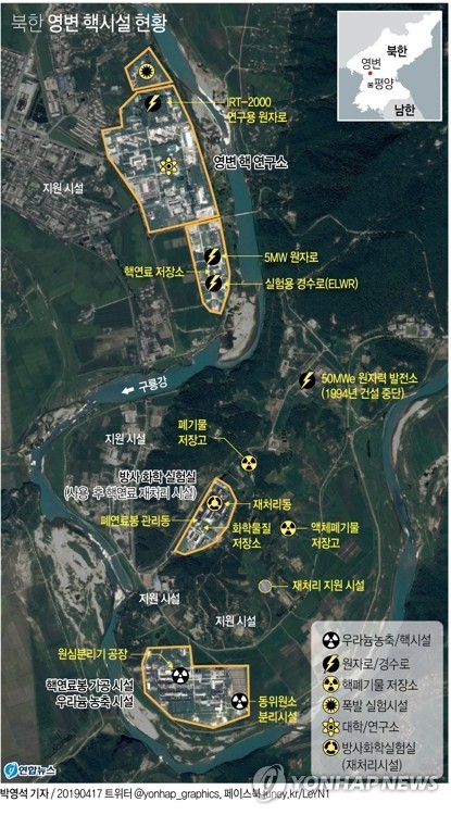 This image shows North Korea's main nuclear complex in Yongbyon, north of Pyongyang. (Yonhap)