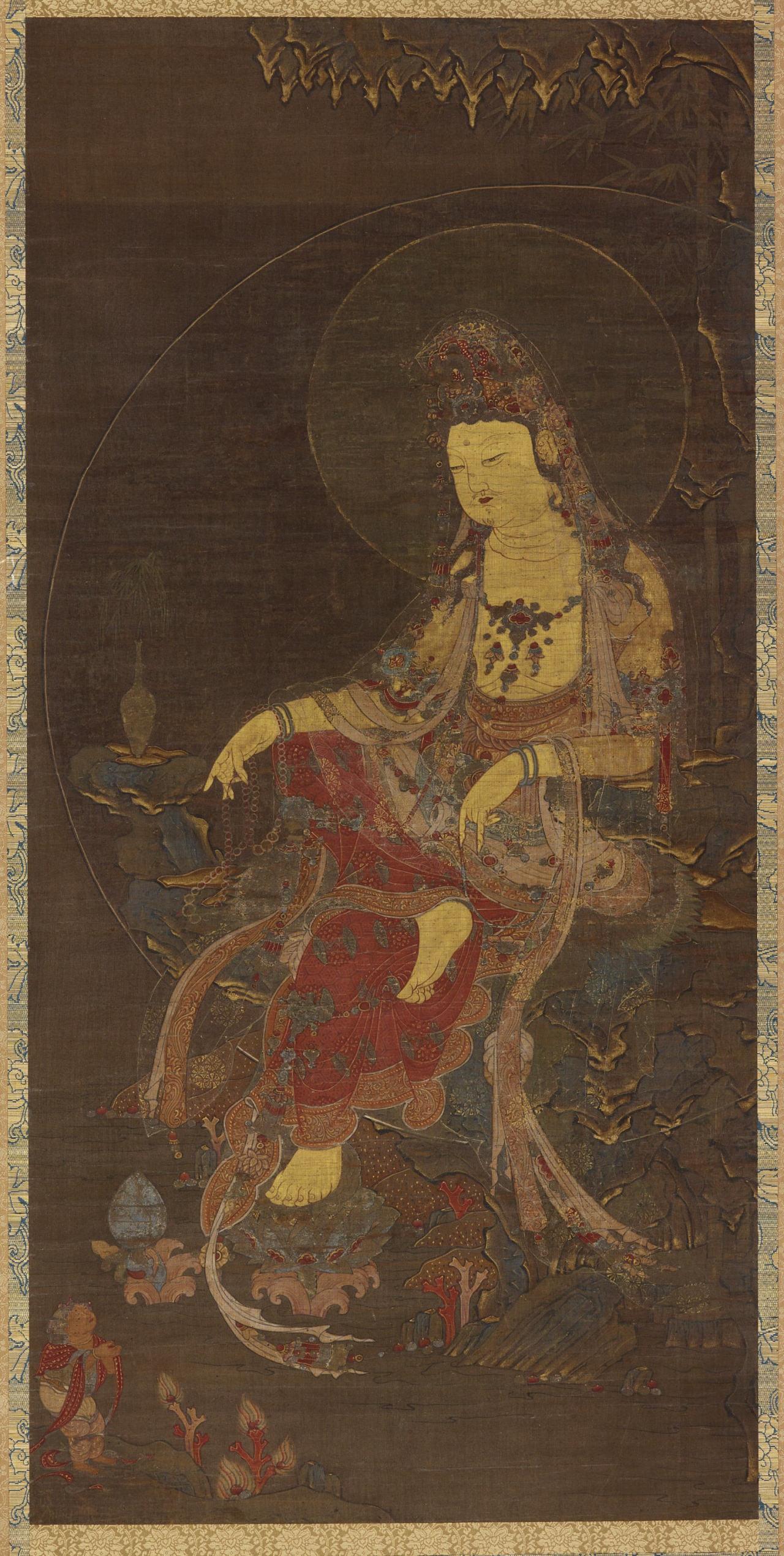 """Water-Moon Avalokiteshvara (Suwol-Gwaneum-Do)"" Cultural Heritage Administration"