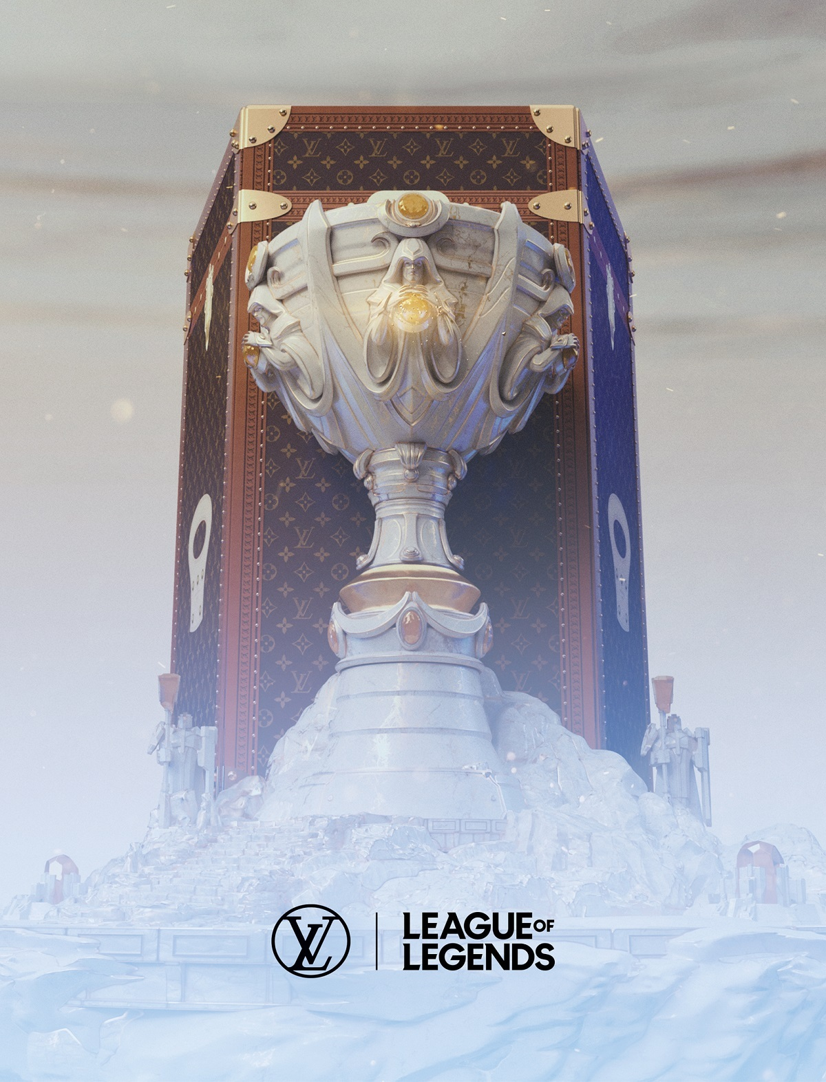 French luxury fashion house Louis Vuitton produces the LoL Worlds trophy case. (Riot Games)