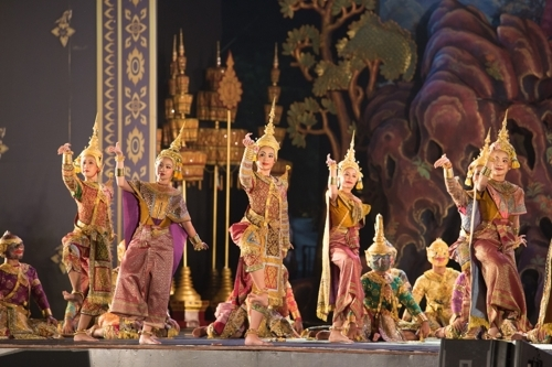 A performance of Khon (National Intangible Heritage Center)