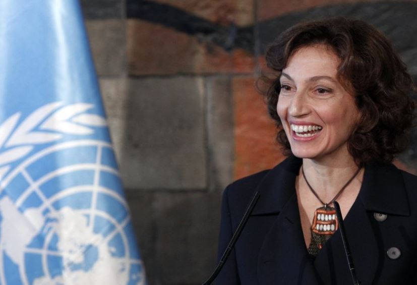 UNESCO chief Audrey Azoulay (AP)