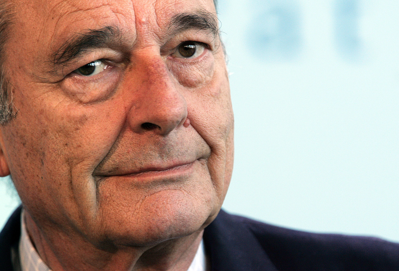 In this file photo taken on March 14, 2006 French President Jacques Chirac attends a joint press conference with the German Chancellor at the Chancellory in Berlin, after a German-French summit. - Former French President Jacques Chirac has died at the age of 86, it was announced on September 26. (AFP-Yonhap)