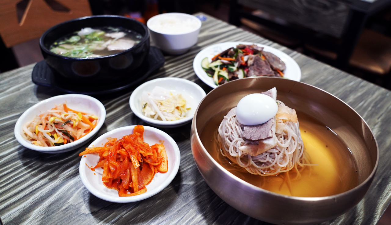 Naengmyeon is priced at 11,000 won ($9.20). (Choi Ji-won/The Korea Herald)