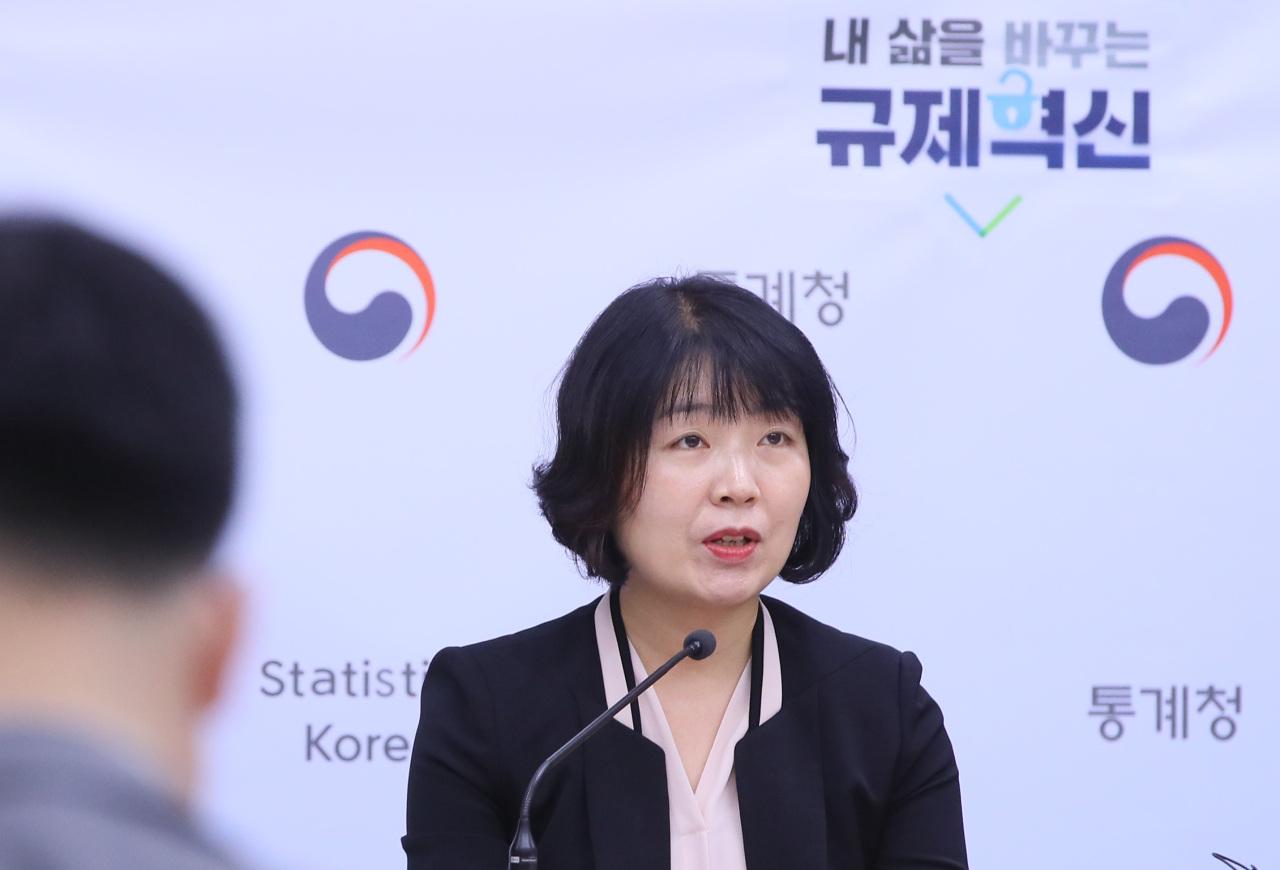 Kim Bo-kyoung, director of Statistics Korea's industry statistics division. (Yonhap)