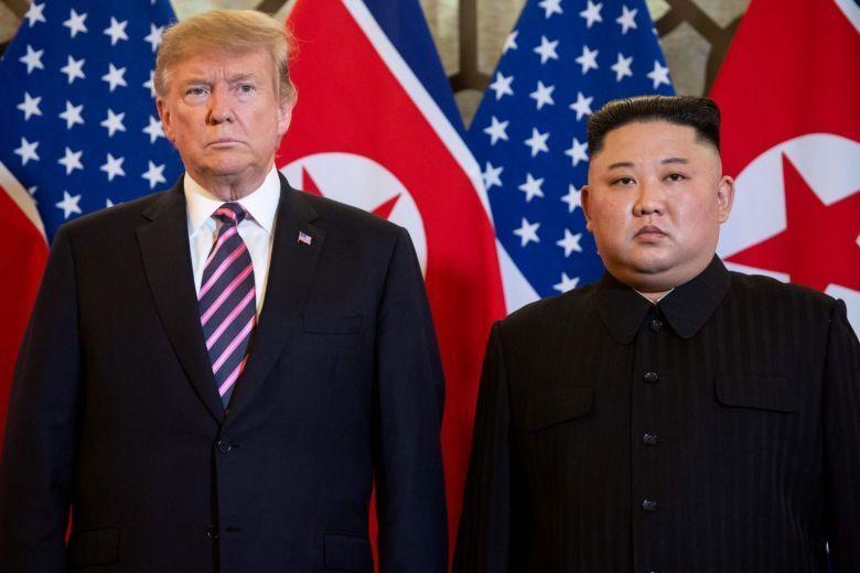 US President Donald Trump (left) and North Korean leader Kim Jong-un (AFP)