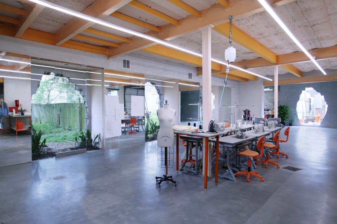 A view of the workshop at the Material Institute in New Orleans (Kelly Colley)