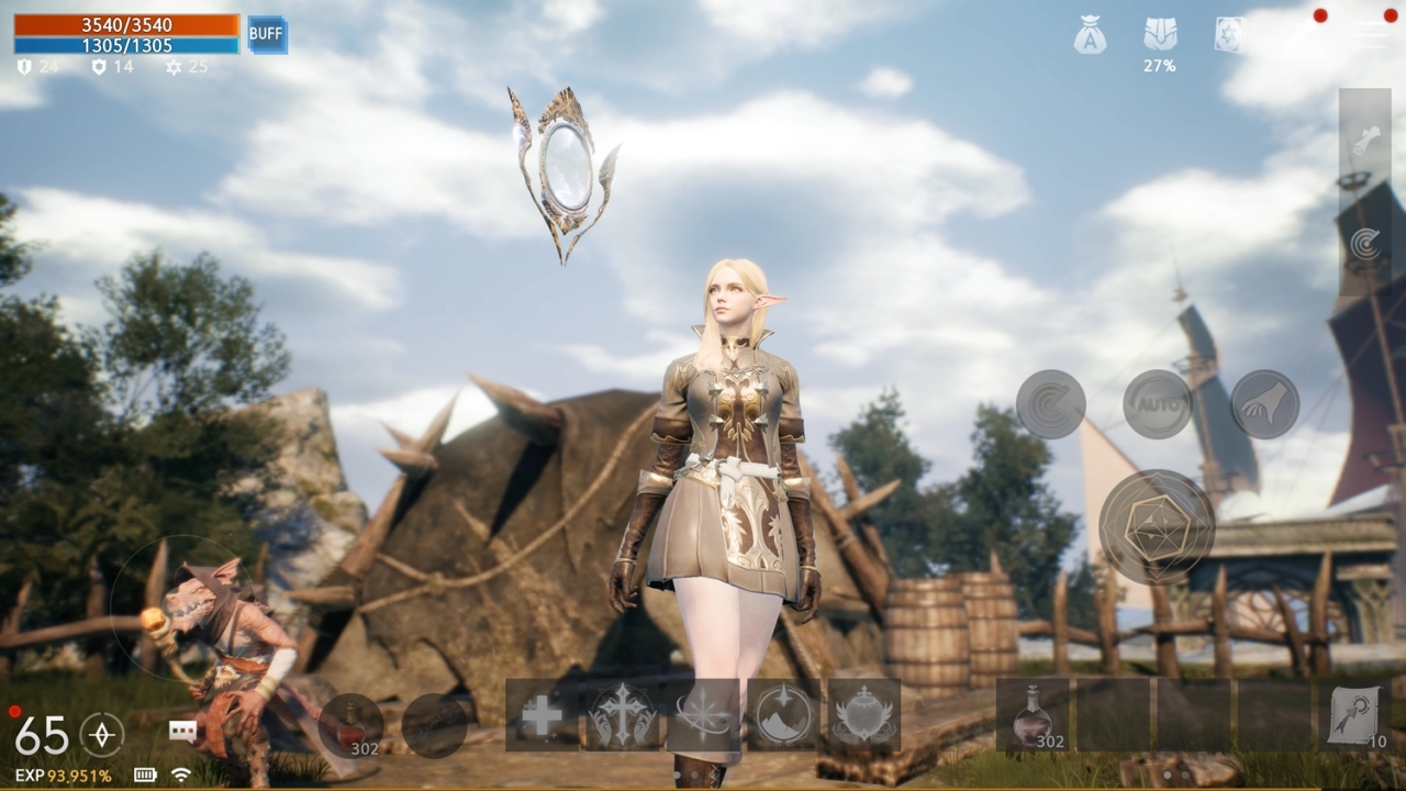 The orb is a new weapon that will be available in the upcoming mobile game Lineage2M. (NCSoft)