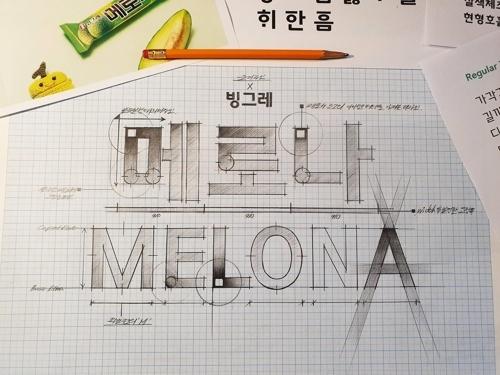 Binggrae Melona font (Binggrae)