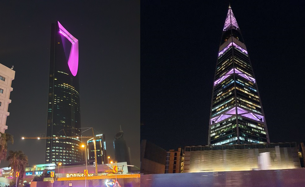 Major skyscrapers in the capital were illuminated in BTS' signature color, purple. (Yonhap)